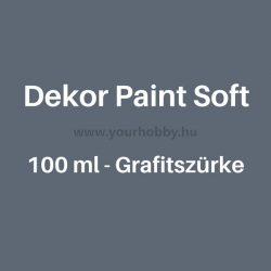 Pentart Dekor Paint Soft lágy dekorfesték 100 ml - grafitszürke
