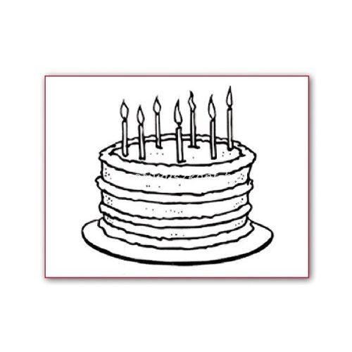 Akril pecsételő - Születésnapi torta WTK023