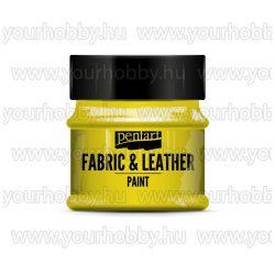 Pentart Textil- és bőrfesték 50 ml - Sárga