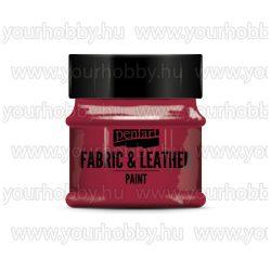 Pentart Textil- és bőrfesték 50 ml - Piros