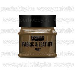 Pentart Textil- és bőrfesték 50 ml - Sötétbarna