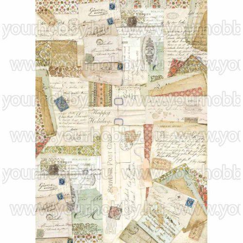 Stamperia Dekupázs rízspapír A3 Képeslapok DFSA3005