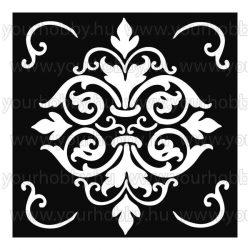 Stamperia stencil TD méret 18x18 cm - Dekor