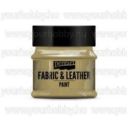 Pentart Textil- és bőrfesték 50 ml - Csillogó arany