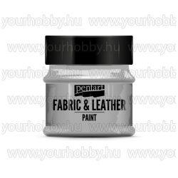 Pentart Textil- és bőrfesték 50 ml - Csillogó ezüst