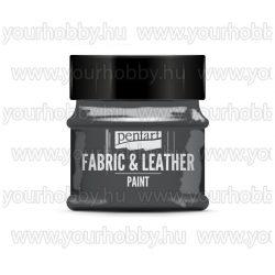 Pentart Textil- és bőrfesték 50 ml - Csillogó grafit