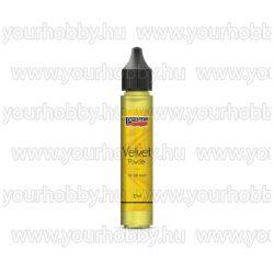 Pentart Bársonypor 30 ml - Citromsárga