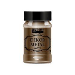 Pentart Dekormetál matt festék 100ml - Csokoládé