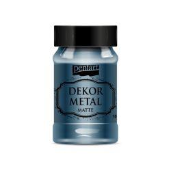 Pentart Dekormetál matt festék 100ml - Oxford kék