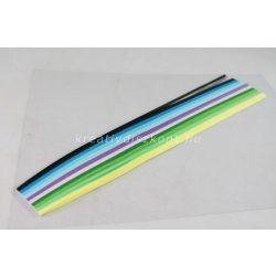 Quilling papírszett, tavaszi színek, 30 cm x 3 mm 300 db