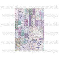 Stamperia Dekupázs rízspapír A3 Provence-i patchwork DFSA3025