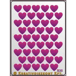 Festősablon, kicsi szívek  S35