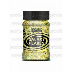 Pentart Galaxy Flakes 100 ml - Pluto sárga