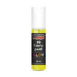 Pentart textilfesték sötétben világító 20 ml sárga