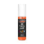 Pentart textilfesték sötétben világító 20 ml narancssárga
