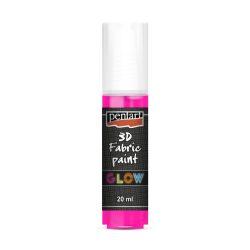 Pentart textilfesték sötétben világító 20 ml pink