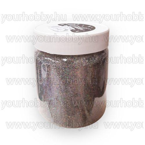 Glitterpor 300g irrizáló ezüst