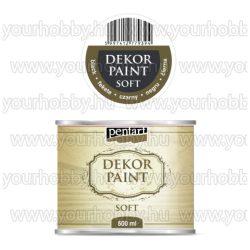 Pentart Dekor Paint Soft lágy dekorfesték 500 ml - fekete