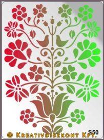 Festősablon, mese virág  S50