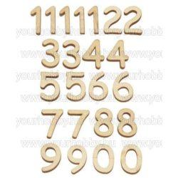 Fa számkészlet órához 15mm 1-12 számok, 15db/csomag