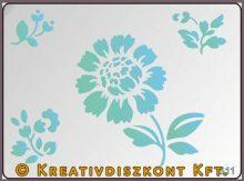 Festősablon, virágok  S11