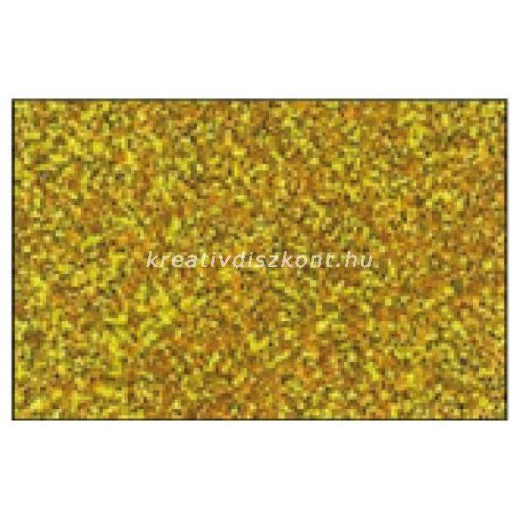 Glitteres dekorgumi lap - A4 arany SBUG02