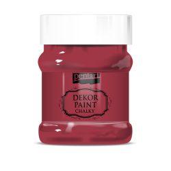 Pentart Dekor Paint Soft lágy dekorfesték 230 ml - kardinálpiros