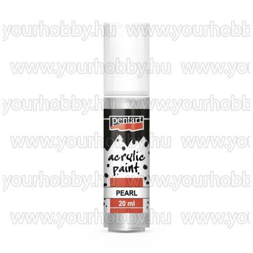 Pentart Gyöngyház akrilfesték 20 ml - Ezüst