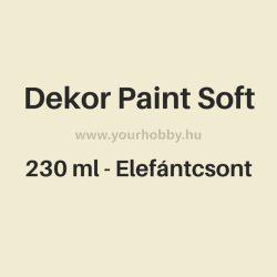 Pentart Dekor Paint Soft lágy dekorfesték 230 ml - elefántcsont