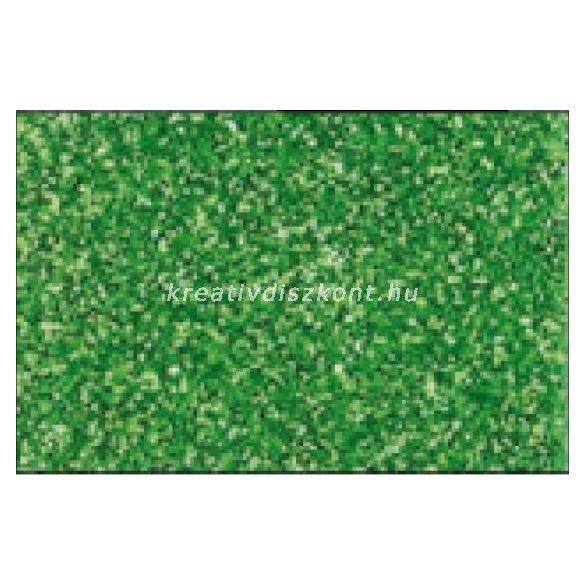 Glitteres dekorgumi lap - A4 almazöld SBUG13