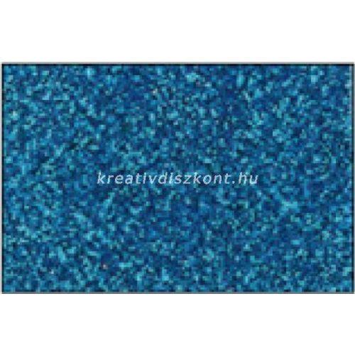 Glitteres dekorgumi lap - A4 zöldeskék  SBUG08