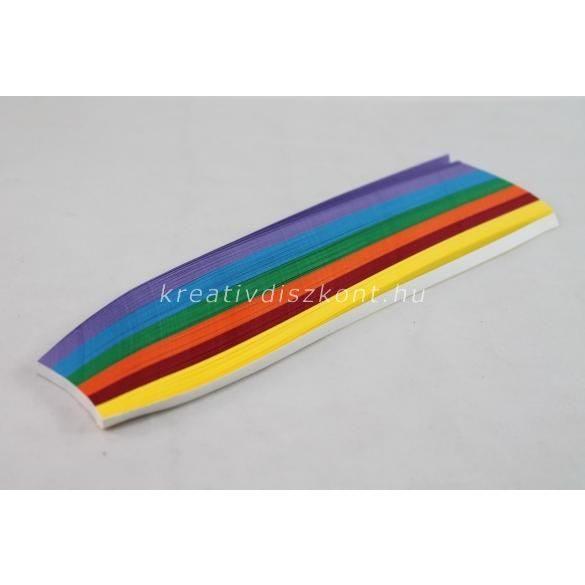 Quilling papírszett, őszi színek, 18 cm x 5 mm 300 db