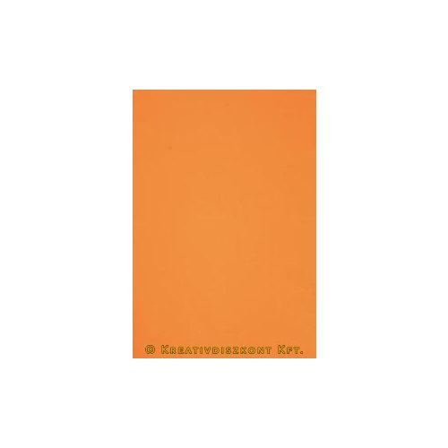 Dekorgumi 20 x 29 cm-es, 12 színben, narancssárga