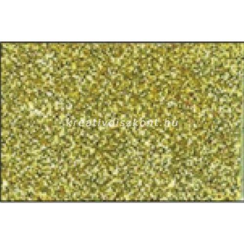 Glitteres dekorgumi lap - A4 világosarany SBUG03
