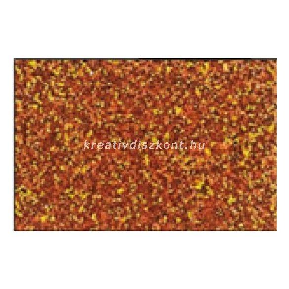 Glitteres dekorgumi lap - A4 narancs SBUG12