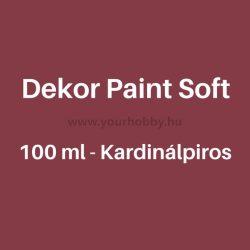 Pentart Dekor Paint Soft lágy dekorfesték 100 ml - kardinálpiros