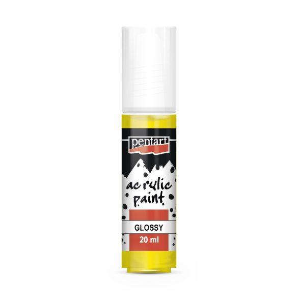 Pentart Fényes akrilfesték 20 ml - Sárga