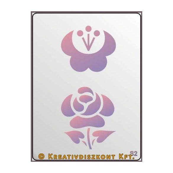 Festősablon, rózsabimbó  S2