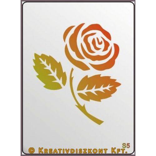 Festősablon, rózsaszál  S5