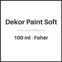 Pentart Dekor Paint Soft lágy dekorfesték 100 ml - fehér