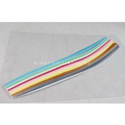 Quilling papírszett, pasztel színek, 30 cm x 3 mm 300 db