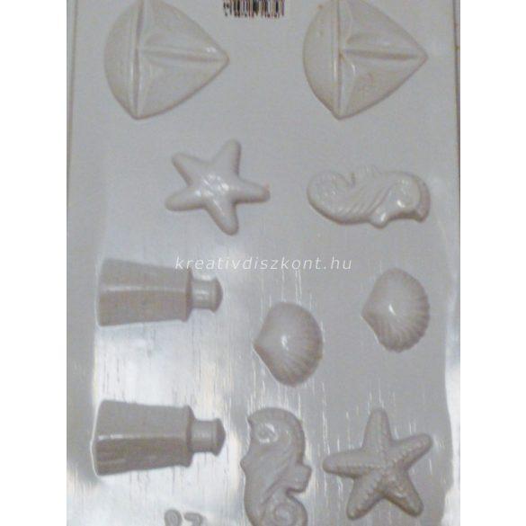 Gipszkiöntő forma, hajós 10/ 3D