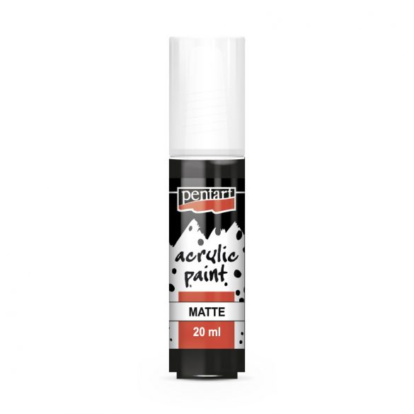 Matt akrilfesték 76 szín 20 ml fekete