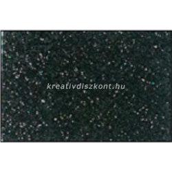Glitteres dekorgumi lap - A4 fekete SBUG15