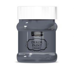 Pentart Dekor Paint Soft lágy dekorfesték 230 ml - grafitszürke