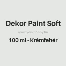 Pentart Dekor Paint Soft lágy dekorfesték 100 ml - krémfehér