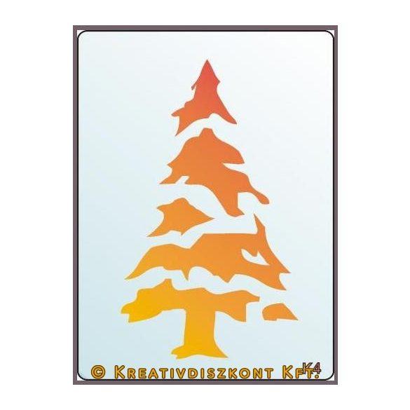 Festősablon, fenyőfa  K4