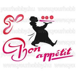 Stamperia Stencil 15x20 cm - Bon appétit!  KSD219