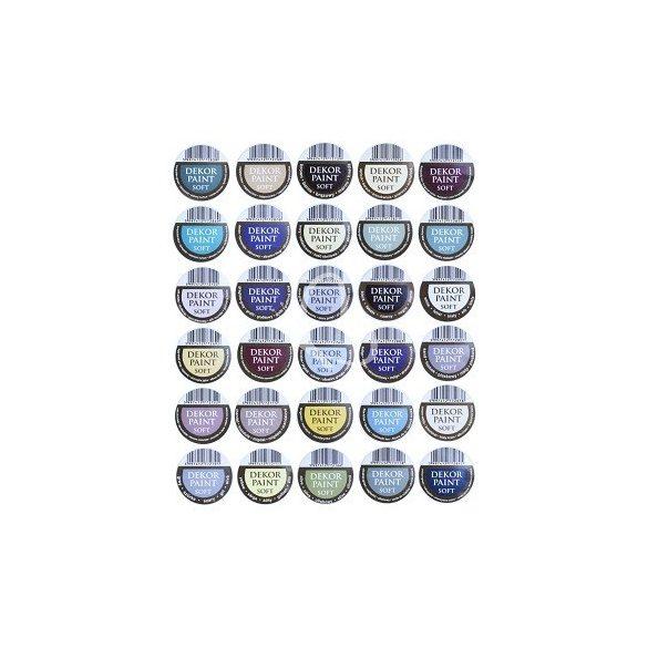 Pentart Dekor Paint Soft lágy dekorfesték 100 ml - zuzmózöld