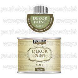 Pentart Dekor Paint Soft lágy dekorfesték 500 ml - olíva
